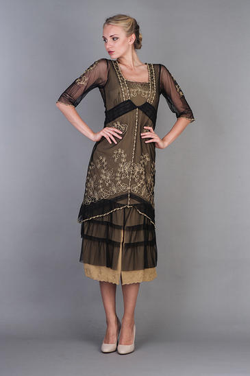 NATAYA TITANIC DRESS IN BLACK GOLD
