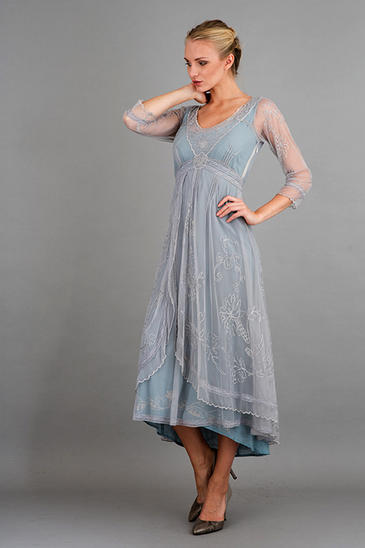 NATAYA DOWNTON ABBEY DRESS BLUE SUNRISE
