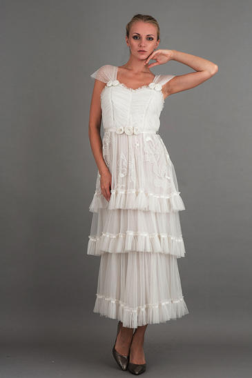 Nataya Romantic Vintage Inspired Wedding Dress